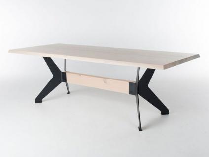 Bert Plantagie Tisch BIXX mit gerader Massivholzplatte Esstisch ohne Funktion für Esszimmer Tischplattenausführung Gestellausführung und Größe wählbar