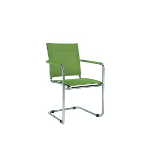 Niehoff Garden Nils Gartenstuhl G171 Schwingstuhl mit Armlehnen Stuhl mit Gestell aus Edelstahl gebürstet und mit Batyline Eden Bezug in wählbarer Farbe Armlehnenschwinger für Garten oder Terrasse