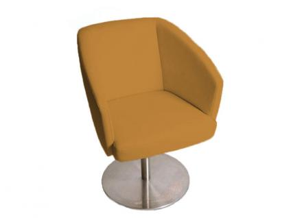 K+W Silaxx Venezia Drehsessel 6069 1C KW Möbel Dinner Sessel für Esszimmer Bezug und Kontrastfaden wählbar