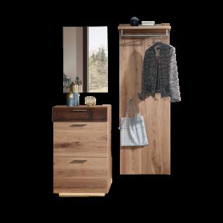 Schröder Kitzalm-Alpenflair Dielenmöbel für Ihren Eingangsbereich dreiteilige Kombination mit Schuhschrank, Garderobenpaneel und Spiegel 100% Made in Germany