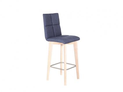 Standard Stuhl Manon Tresenstuhlsystem mit Rückenlehne und Ziernähten Tresenstuhl für Esszimmer, Wohnzimmer oder Küche Gestellvarianten und Bezüge wählbar, 2 Basis-Sitzschalen frei Kombinierbar