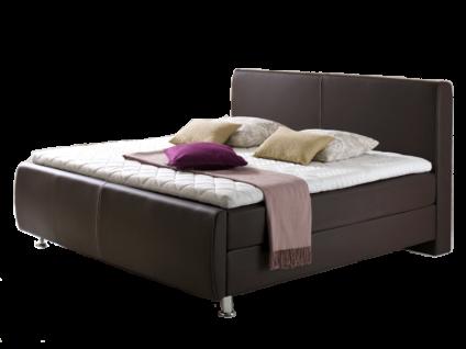 Meise Möbel Boxspringbett Amadeo mit Kunstlederbezug Farbe Liegefläche und 7-Zonen-Tonnentaschenfederkern-Matratzen-Variante wählbar Boxspring mit Bonnell-Federkern optional mit Topper