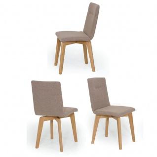 Standard Furniture Stuhl Ontario 1 Polsterstuhl mit Quernaht passend zum Modell Konstanz Polsterstuhl für Esszimmer mit 4-Fuß-Gestell in Eiche oder Buche Bezug wählbar - Vorschau 2