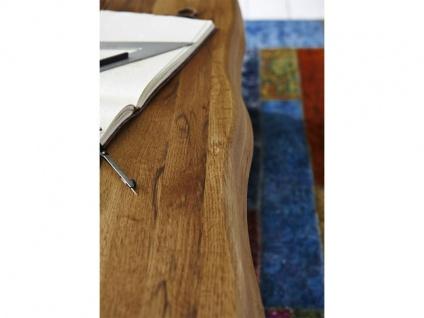 Bodahl Nature Esstisch rustic oak mit Wangengestell und Baumkante Massivholz Tisch ca. 100 cm breit Speisezimmertisch in vier Längen und sieben Ausführungen wählbar - Vorschau 5