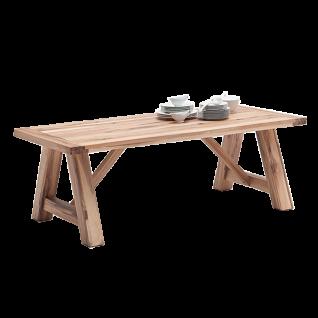 MCA furniture Esstisch Bristol in rustikaler und massiver Wildeiche Massivholztisch in 3 Größen erhältlich