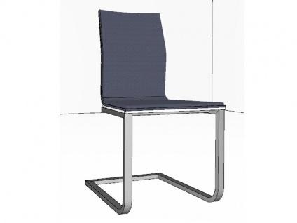 Gwinner Stuhl Lara Schwingstuhl ohne Armlehnen 171 Flachrohr Freischwinger für Esszimmer mit Sichtholzrücken in Lack seidenmatt Ausführung und Bezug wählbar