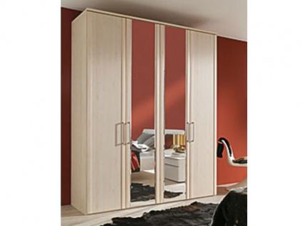 Nolte Horizont 4500 Drehtürenschrank in verschiedenen Dekoren Türen in Rahmenoptik wählbar 4-türig mit 2 Türen mit Facettenspiegel