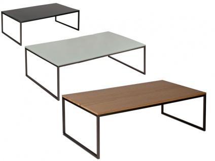 Vierhaus Couchtisch Varianta 2708 Größe ca.100 x 70 cm mit Gestell aus Stahl Schwarz, Tischplatte-Ausführung und Rollensatz wählbar