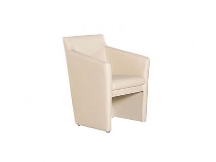 Standard Furniture Polstersessel Omega mit aufwendigen Ziernähten und vollgepolsterter Sitzfläche für Ihr Wohnzimmer und Esszimmer in Kunstleder Bezug wählbar