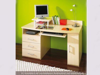 Röhr-Bush vegas Schreibtisch für Jugendzimmer Korpus und Front in Ahorn Nachbildung