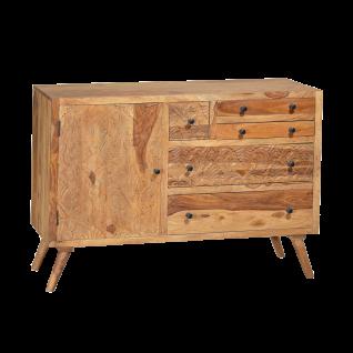 Sit Möbel CARVED Sideboard aus Sheesham Holz massiv mit filigranen Schnitzereien