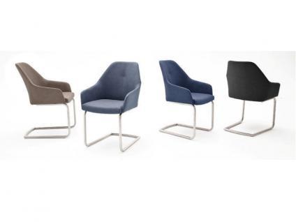 MCA furniture Schwingstuhl Madita Ausführung A mit Sitzschale Kunstlederbezug Argentina Farbe wählbar 2er Set