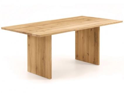 Wimmer Zweigl Wangenesstisch Z24 mit Holzwangen massiv geölt Tischplattenausführung Größe Kantenprofiltyp Ansteckplatte und Ansteckplattentyp wählbar Tisch für Ihre Küche oder Ihr Esszimmer