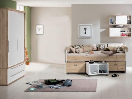 Paidi Fionn 6-teiliges Jugendzimmer Kojenbett Rollbox Rollregal 2-türiger Kleiderschrank Wandregal LAGERWRE