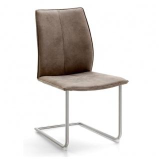 Niehoff Stuhl Capri 7341 mit Schwingstuhlgestell Rundrohr Gestellfarbe und Bezug wählbar ideal für Ihr Esszimmer - Vorschau 2