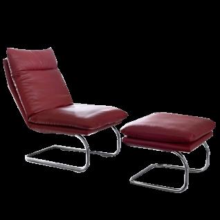 Willi Schillig Sessel Jill 10440 mit einem hochwertigen Freischwingergestell in zwei wählbaren Ausführungen sowie einer Kopf- Fuß- und Rückenverstellung mit Rasterbeschlag in einer Vielzahl an verschiedenen Stoff- oder Lederbezügen erhältlich