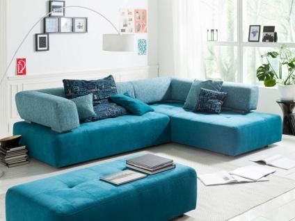 K+W Möbel Ecksofa Reno 7066 Wohnlandschaft Sofa Polstergarnitur Element mit Seitenteil Sofaecke Couch spiegelverkehrt lieferbar Bezug Stoff oder Leder wählbar