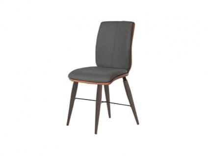 Bert Plantagie Stuhl Tara Cross Komfort 816C mit Bi-Color-Mattenpolsterung Polsterstuhl für Esszimmer Speisezimmerstuhl ohne Armlehnen Gestellausführung Naht Reißverschlußfarbe und Bezug wählbar