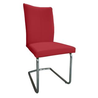 DKK Klose S64 Stuhl 64011 Schwinggestell in Rundrohr oder Flachrohr und in Chrom oder Edelstahl gebürstet wählbar Polsterstuhl mit drei wählbaren Sitzschalenvarianten Suhl für Wohnzimmer und Esszimmer Bezug in Stoff oder Leder wählbar