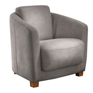 Carina Sessel 9004 mit legerer lockerer Polsterung im wohnlichen grauen Polyesterbezug Deluxe grau aus der Preisgruppe 3