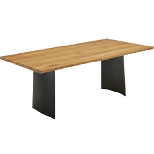 Niehoff hochwertiger Design-Baumtisch Tree-Top 3583 oder 3593 mit Massivholzplatte und Baumkante Holzausführung Größe und Gestell wählbar idealer Esstisch für Esszimmer oder Partyraum