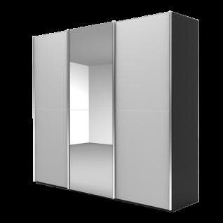 Nolte Möbel Marcato 2.2 Schwebetürenschrank Ausführung 2 mit 3 waagerechten Sprossen mit 1 Spiegeltür Farbausführung und Schrankgröße wählbar