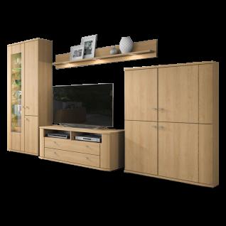 stralsunder plano 2 wohnkombination eb105 f nfteilige wohnwand mit vitrine tv unterschrank. Black Bedroom Furniture Sets. Home Design Ideas