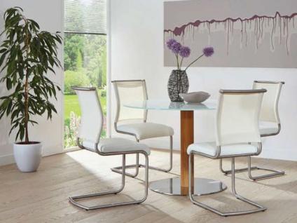 MWA Aktuell Stuhlsystem Lima in Stoff Kunstleder oder Echtleder Polsterstuhl für Esszimmer oder Küche Bezug und Gestell wählbar