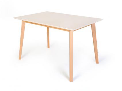 Standard furniture Esstisch Vinko mit Holzplatte oder mit weisser Platte Tisch für Esszimmer Funktion Größe und Ausführung wählbar