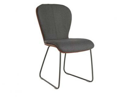Blake Schlitten 611C von Bert Plantagie mit Bi-Color-Mattenpolsterung Stuhl 611C für Esszimmer Esszimmerstuhl Gestellausführung und Bezug in Leder oder Stoff wählbar