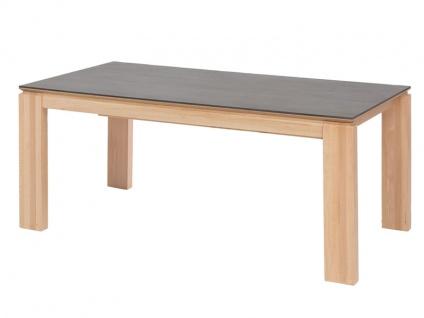 Standard Furniture Factory Manzano XL Esstisch mit Gestellauszug und Vorkopf-Butterfly-Einlage Tischplatten Dekton in 4 Ausführungen erhältlich Tisch für Esszimmer