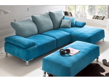 K+W Chill 7466 Ecksofa Sofa 2-Sitzer, Longchair und Hockerbank Couch spiegelverkehrt lieferbar in Stoff oder Leder wählbar
