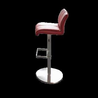 MWA Aktuell Barhockersystem Como Barhocker mit Metallgestell in vielen Ausführungen Barstuhl für Ihr Esszimmer Küche oder Partyraum in Kunstleder oder Leder Gestell und Sitzschale wählbar