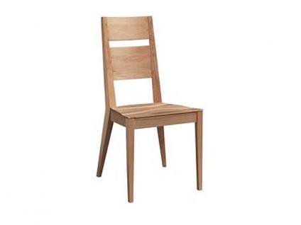 Dkk Klose Kollektion Stuhl S23 massiver Holzstuh wahlweise mit Sitzkissen für Esszimmer oder Küche in verschiedenen Beiztönen wählbar