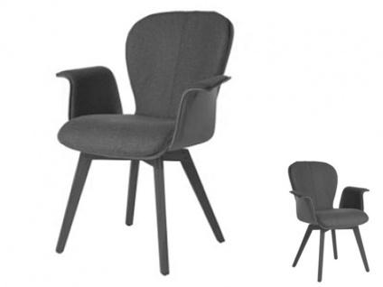 Blake WOOD 635C Komfort mit Uni-Mattenpolsterung von Bert Plantagie Armlehnenstuhl für Esszimmer Esszimmerstuhl Gestellausführung und Bezug wählbar
