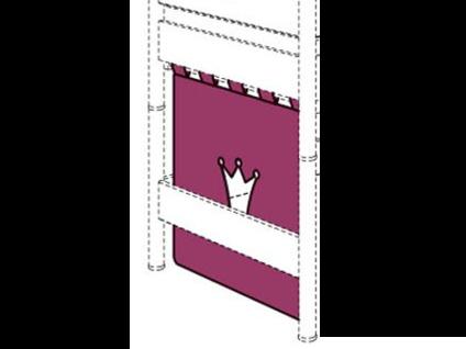 Paidi Einzelvorhang für Querseite und Höhe 120 /125 cm brombeere / weiß mit Krone ***AM LAGER***
