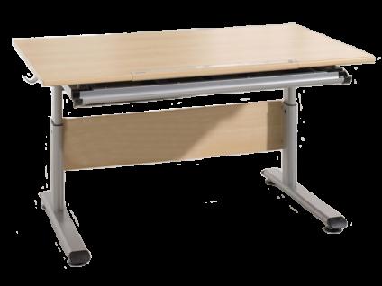 Paidi Schoolworld Marco 2 120 Schreibtisch Plattenausführung Ahorn-Nachbildung optional mit Schreibtischauszug wählbar