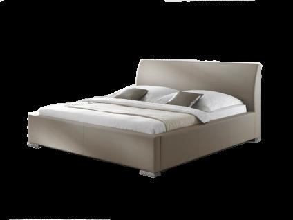 Meise Möbel ALTO-COMFORT Polsterbett mit Kunstlederbezug in muddy schwarz braun oder weiß und glattem Kopfteil Liegefläche wählbar