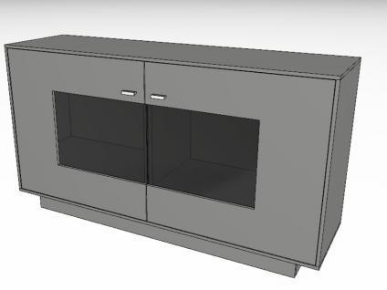 Gwinner Media-Concept Sideboard SB4-1 Kommode für Wohnzimmer Anrichte Ausführung Korpus und Front in Lack weiß, taupe, fango oder schwarz seidenmatt Ausführung wählbar