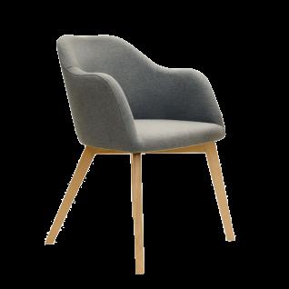 Standard Furniture Sessel Theo 1 mit 4-Fuß-Spider-Holz-Gestell Polsterstuhl für Esszimmer Bezug wählbar