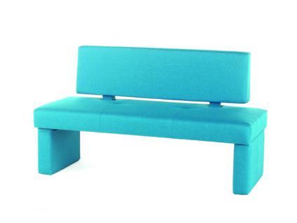Standard Furniture Polsterbank Domino mit Stoffbezug Einzelbank mit oder ohne Rückenlehne Bank für Esszimmer und Küche im Bezug Grand Farbe Größe und Ausführung wählbar