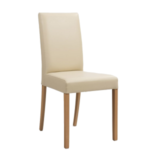 Standard Furniture Polsterstuhl Ivonne Bezug Galant beige Gestell Buche natur Stuhl für Esszimmer oder Wohnzimmer