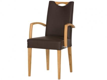 DKK Klose Sessel 30407 mit Griff zweifarbig für Wohnzimmer und Esszimmer Bezug in vielen Stoffen und Echtleder, Sitzkomfort wählbar