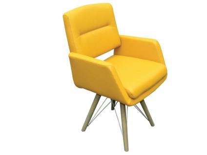 K+W Silaxx 6115 SD 4-Fuß Holzsessel geölt mir Metallstreben Ausführung wählbar KW Möbel Sessel für Esszimmer Bezug wählbar Stuhlsystem H2O