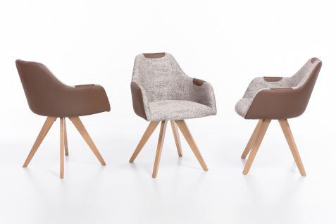 Standard Furniture Polstersessel Rimini mit Sitzschale F1 geschlossen für Esszimmer oder Wohnzimmer, mehrfarbiger Küchenstuhl mit Kunstleder in verschiedenen Bezugsarten und Gestellausführungen - Vorschau 2