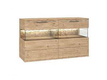 Dkk Klose Kollektion K20 Kastenmöbel Sideboard 2-teilig Kommode geölt oder Wachseffektlack Anrichte für Wohnzimmer oder Esszimmer mit Glastüren Größe Ausführung und Zubehör wählbar