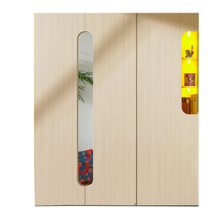 Rudolf Möbel Max-i Jugendzimmer Kleiderschrank mit 3 Türen und einem Einsatz Farbausführung wählbar optional mit Einsatz-Beleuchtung