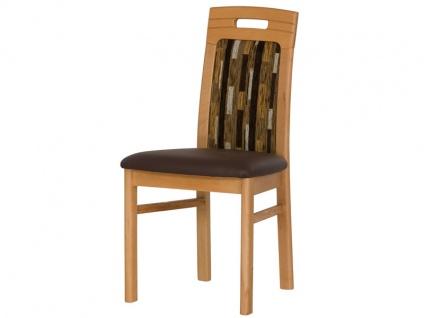 DKK Klose Stuhl 30305 mit Griff für Wohnzimmer und Esszimmer Bezug in vielen Stoffen und Echtleder, Sitzkomfort wählbar