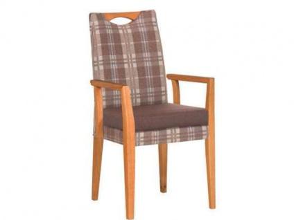 Dkk Klose Kollektion Sessel Smile :-) Modell A Stuhl mit Armlehnen Modell B Polsterstuhlsystem für Speisezimmer Esszimmerstuhl zweifarbig Sitzkomfort Bezug Ausführung der Armlehnen und Holzausführung wählbar