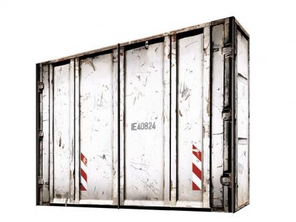 Express Möbel Cargo Schwebetürenschrank in Vintage Container Look in Weiß Schrankbreite wählbar